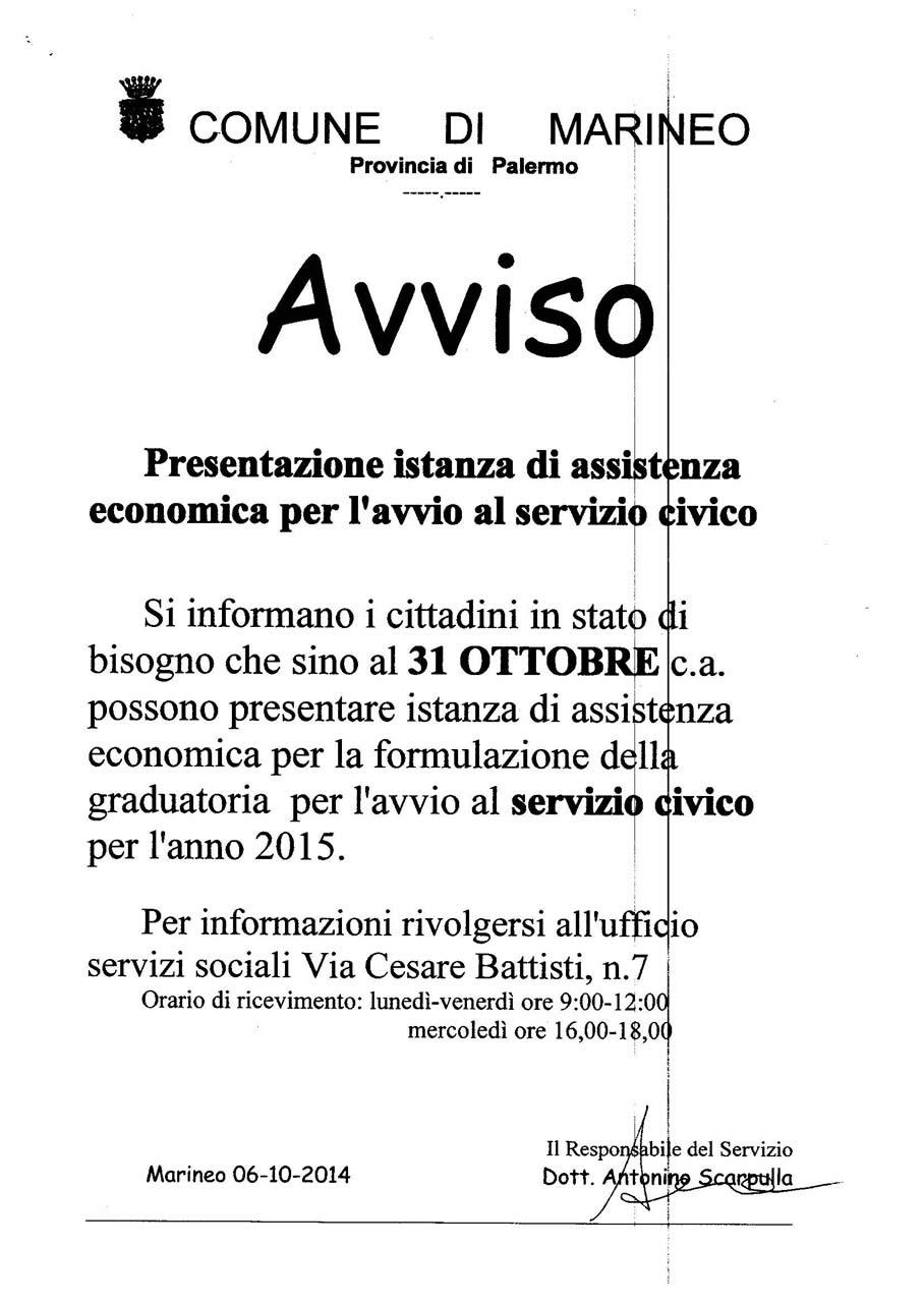 ass. servizio civic